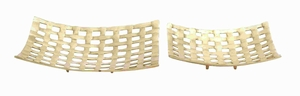"""15"""" H Metal Tray with Mesh-Like Pattern Design (Set of 2) Brand Woodland"""
