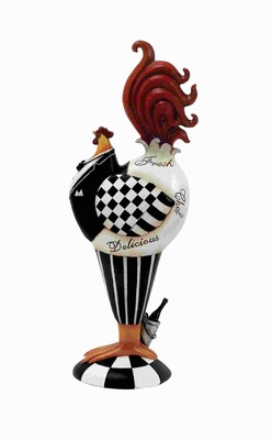 "15""H Rooster Decor with Detailed with Bright Colored Feathers Brand Woodland"