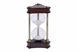 15 Minute Hour Glass Wood Metal Glass Sand Timer �  Table Top Brand Woodland