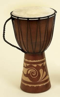 WOOD LEATHER DJEMBE DRUM DJEMBE TOCA WOOD / LEATHER - 89847 by Benzara