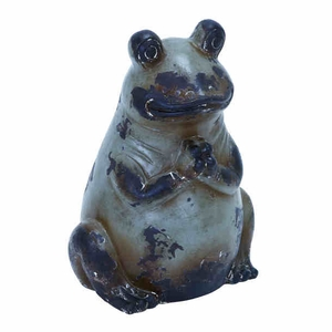 "16""H Beautiful Ceramic Frog Suiting Modern and Conventional Decor Brand Woodland"