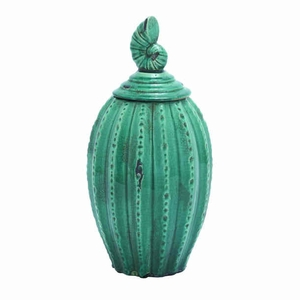 """16""""H Ceramic Jar Complements The Rustic and Antique Decor Brand Woodland"""