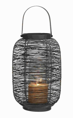 "16""H Metal Lantern Timeless and Durable Design with Sturdy Metal Brand Woodland"