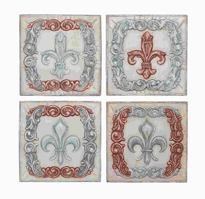 "16"" H Metal Wall Decor 4 Assorted with Intricate Motifs Brand Woodland"