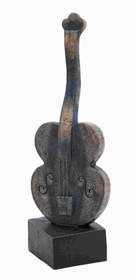 "16""H Polystone Violin in Brown and Rustic Shade with Sturdy Base Brand Woodland"