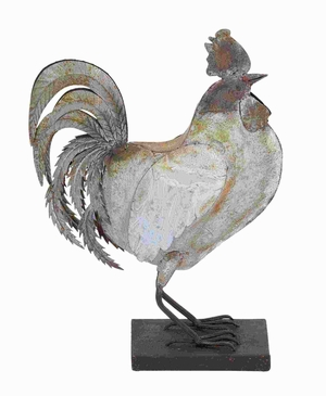 "16"" H Traditional and Modern Metal Rooster with Elegant Design Brand Woodland"