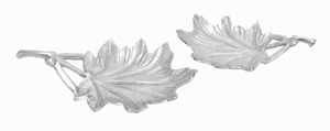 "16""W Aluminium Leaf Tray with Branch-Like Handles (Set of 2) Brand Woodland"