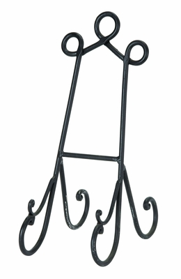 "16"" Wedding Easels Cook Books Art in Black Finish - Set of 12 Brand Woodland"