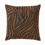 "17"" Designer Real Leather Pillow with Soft Stuffed Cotton Brand Woodland"
