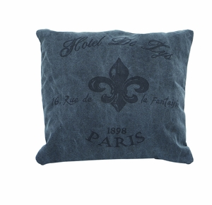 "17"" H Attractive And Unique Fabric Pillow In Grey Color - 54178 by Benzara"