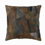 "17"" H Attractive Real Leather Pillow with Creative Tough Stitch Brand Woodland"