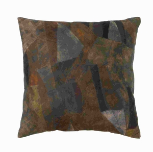 """17"""" H Attractive Real Leather Pillow with Creative Tough Stitch Brand Woodland"""