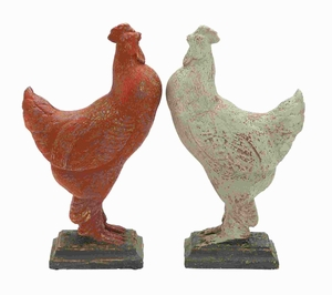 "17""H Classic Designed Rooster Assorted with Prolonged Shelf Life Brand Woodland"