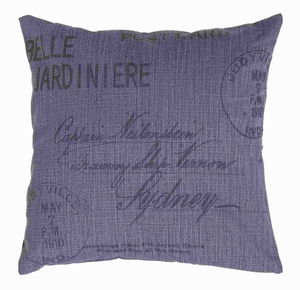 """17""""H Fabric Pillow Accentuated with Bold Black Lettering Brand Woodland"""