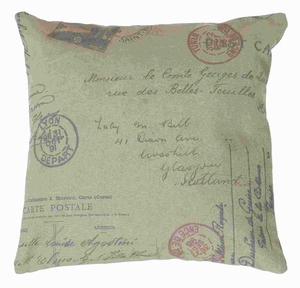 """17""""H Fabric Pillow Elegant Yet Unique Look in Rich Beige Color Brand Woodland"""