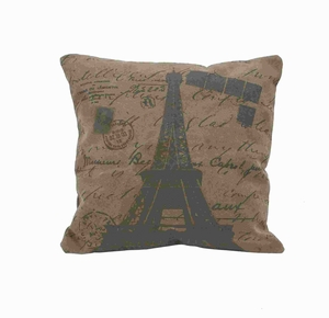 "17""H Fabric Pillow in Deep Brown Color and Square Shaped Brand Woodland"