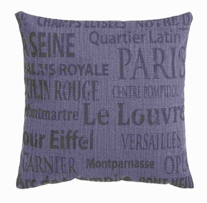 """17""""H Fabric Pillow with Premium Quality Cotton in Rich Blue Color Brand Woodland"""
