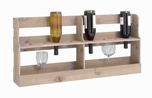 """17""""H High Quality Wooden Wine Rack with Spacious Design Brand Woodland"""