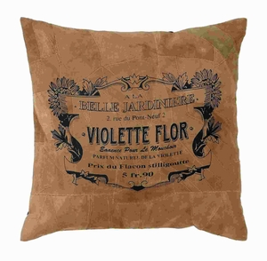 """17""""H Real Leather Pillow with Simple and Attractive Design Brand Woodland"""