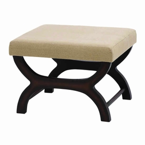"17"" H Traditional And Modern Designed Wood Burlap Stool Brand Woodland"