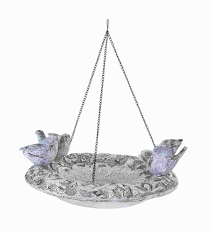 "17"" H Unique Poly Stone Hanging Birdfeeder in Elegant Design Brand Woodland"