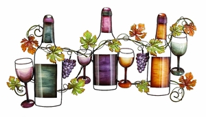 "19"" Classic Style Wine Garden Metal Wall Art Decor Sculpture Brand Woodland"