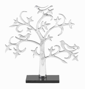 "19""H Attractive Aluminium Decor Tree with Silver Finish Brand Woodland"