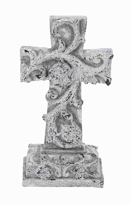 "19"" H Modern and Unique Poly Stone Cross in Elegant Design Brand Woodland"