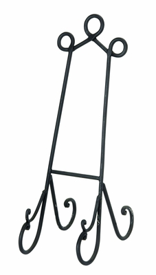 "19"" Metal Wedding Easels Cook Books Arts in Black"