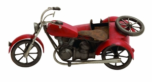 1930s Antique Vintage Motorcycle With Sidecar Decor Brand Woodland
