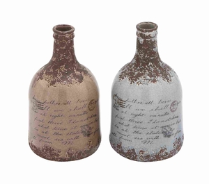 2 Assorted Easy to Clean and Maintain High Quality Ceramic Vase Brand Woodland