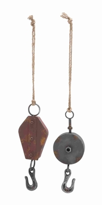 2 Assorted Traditional Metal Hook with Contemporary Appeal Brand Woodland