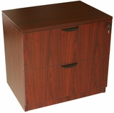 2-Drawer Lateral File, Mahogany by Boss Chair