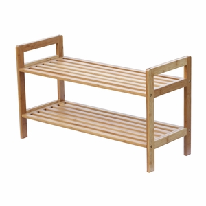 2 Tier Bamboo Shoe Rack by Oceanstar