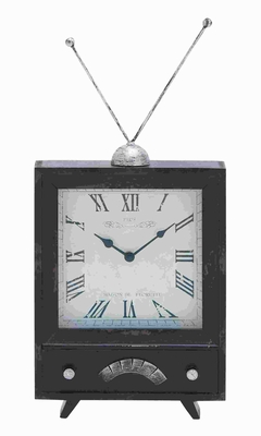 """20"""" Classic Wood Clock with Distressed Finish on The Clock Dial Brand Woodland"""