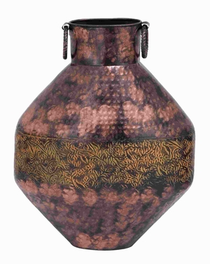 "20""H Attractive Metal Flower Vase with Antique and Durable Finish Brand Woodland"