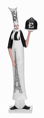 "20""H Chef in Slim Shape Long Lasting Performance with White Scarf Brand Woodland"