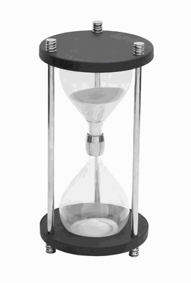 "20"" H Traditional Metal Glass Sand Timer with Real Sand Brand Woodland"