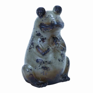 """20""""H Unique Ceramic Frog Suiting Modern and Conventional Decor Brand Woodland"""