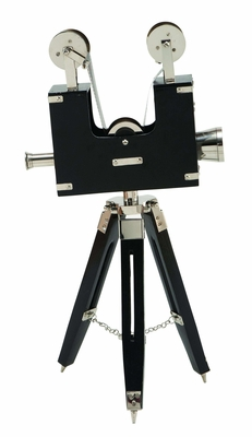 "20"" Tall Chrome Vintage Brass Frame Projector with Tripod Brand Woodland"