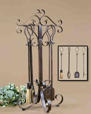20338  Daymeion, Fireplace Tools S/5: Complete Management Of Fire Brand Uttermost