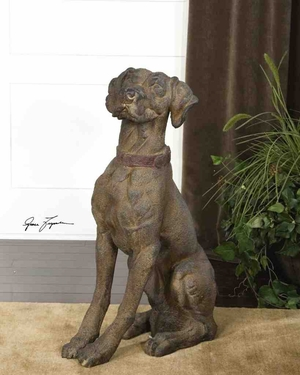 20942 Big Rusty Statue: Low Cost But Rare To Find Decor Item Brand Uttermost