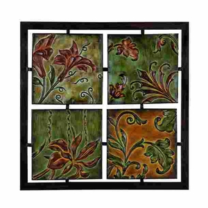 """21"""" Classic Lily Orchid Metal Wall Plaque Decor Sculpture Brand Woodland"""