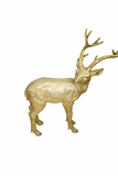 "21"" Deer Statue - Gold by Alpine Corp"