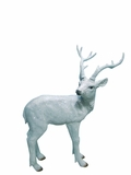 "21"" Deer Statue - White by Alpine Corp"