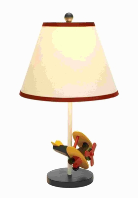 "21""H Classic Designed Metal Table Lamp Glazed with Soft Colors Brand Woodland"