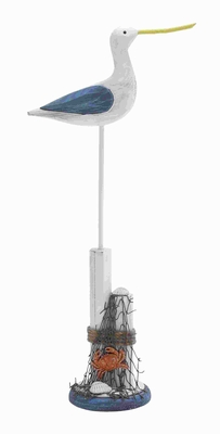 """21""""H Classic Wood Seabird in Natural White and Gray Finish Brand Woodland"""