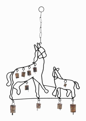 """21""""H Durable and Rustproof Design Metal Horse Wind Chime Brand Woodland"""