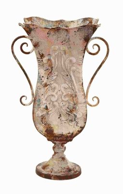 "21""H Long Lasting & Durable Metal Vase with Antique Magnificence Brand Woodland"