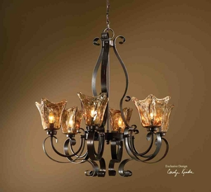 21006 Vetraio 6 Lt Chandelier: Light In Fashion Brand Uttermost